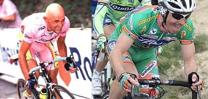 Gli scatti di Marco Pantani e Emanuele Sella