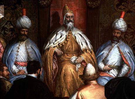 Il doge Enrico Dandolo sul trono di Costantinopoli