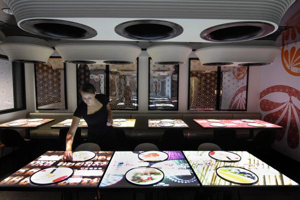 Lsdmagazine tavoli interattivi per l asian food londinese - Tavoli interattivi ...