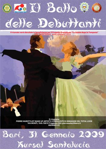 """""""Il gran ballo delle debuttanti"""" una serata organizzata dal Rotaract del Distretto Rotary 2120"""