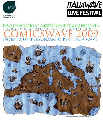 Concorso Comicswave: Disegna il personaggio di Toni Respiro: da Livorno, Porto della musica, al Mediterraneo