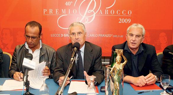Una magica serata a Lecce per la 40° edizione del Premio Barocco condotta da Carlo Conti con tantissimi volti noti della televisione italiana