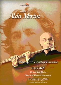 Ballate, la poesia di Alda Merini incontra la musica della Mastropirro Ermitage Ensamble