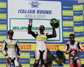 Michele Pirro vincitore del Gran Premio d'Italia
