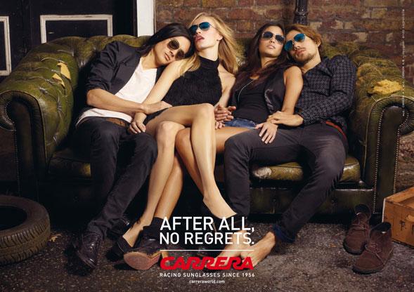 """""""After All, No Regrets"""": la campagna di comunicazione degli occhiali Carrera"""