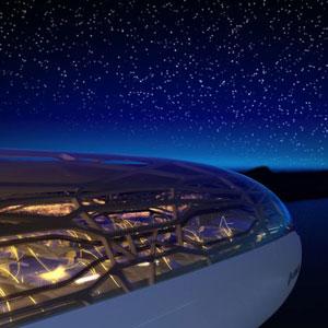 """Presentato """"Concept Capin"""" della Airbus, il primo aereo panoramico al mondo"""