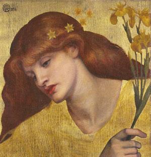 "Alla Galleria Nazionale d'Arte Moderna di Roma, ""Dante Gabriel Rossetti.."""