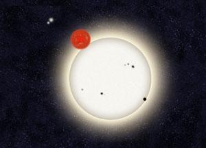 Scoperto nell'immensa galassia Planet Hunter 1, il pianeta con quattro soli