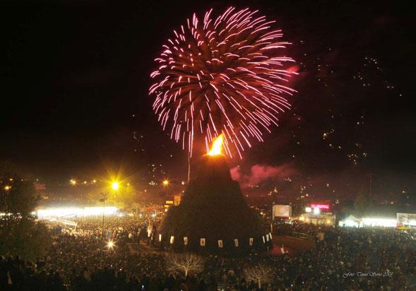 Festa della vite, primo atto ufficiale per la costruzione del falò di Novoli 2013