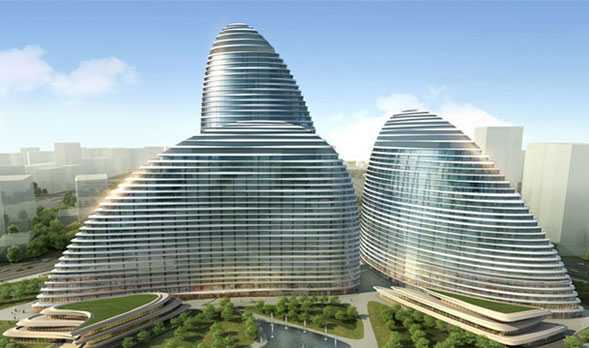 I capolavori dell'architetto Zaha Hadit piratati in Cina