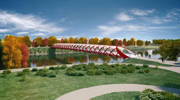 Avveniristico e tubolare l'ultimo ponte di Santiago Calatrava