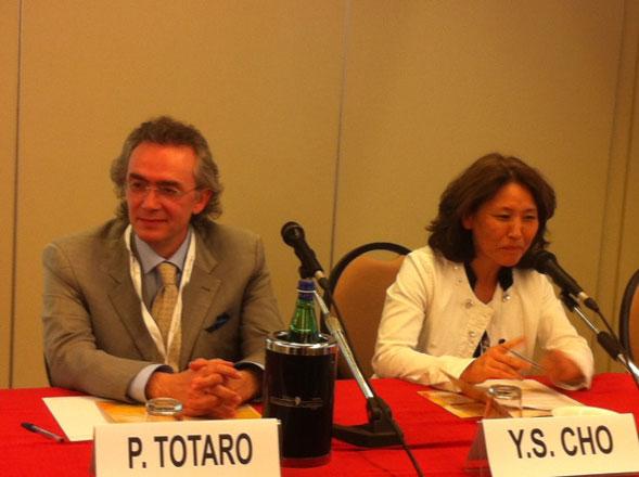 Pasquale Totaro e la dottoressa Yoon Sung Cho