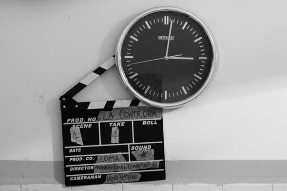 """Fine set per il corto """"La Controra"""" di Luana Martino e Marianna Fumai"""