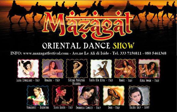 Da oggi a Bari la terza edizione del Mazagat International Oriental Dance Festival