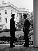 From left, President John F. Kennedy with his brother, Attorney General Robert F. Kennedy, at the White House in this May 4, 1961 file photo.