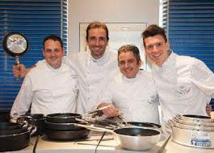 La Nazionale Italiana Cuochi ospite a Villa Romanazzi Carducci per un gemellaggio con chef svedesi