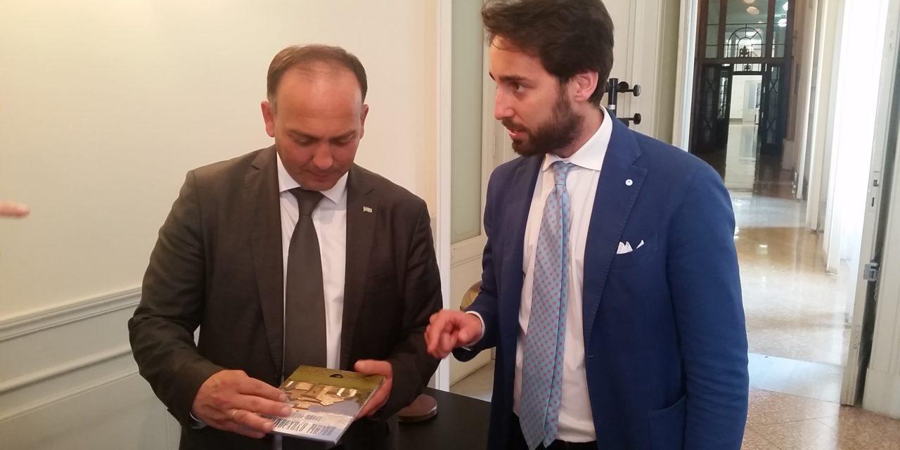 Visita ufficiale a Bari del ministro degli Esteri Abcaso DaurKove