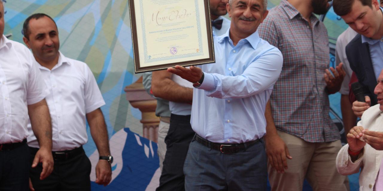 L'Osservatorio Diplomatico Internazionale premia Mussa Ekzekov Ambasciatore di buona volontà