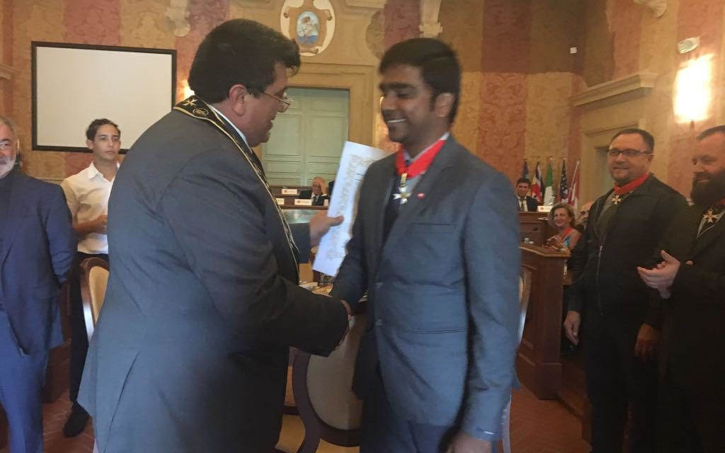 A Francesco Callegaro  Laurea Honoris Causa in Lettere della International Christian Tamil Literature Research Institute in India