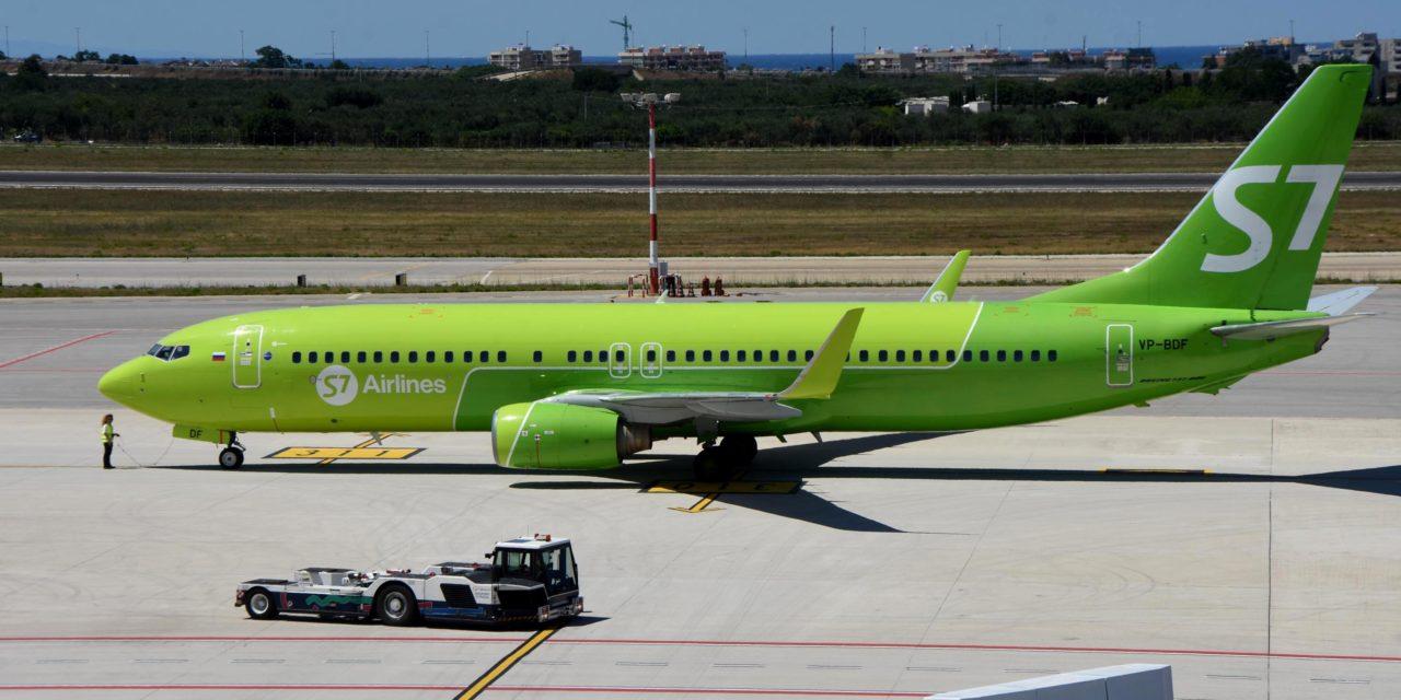 Dal prossimo mese di marzo riprenderanno i collegamenti tra Aereoporti di Puglia e LA COMPAGNIA russa S7 AIRLINES