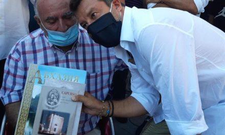 Vito Grittani incontra Matteo Salvini a Capurso e lo invita a visitare la Repubblica di Abcasia