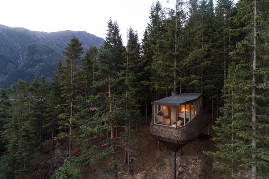 Woodnest, le case sospese con vista mozzafiato del fiordo norvegese