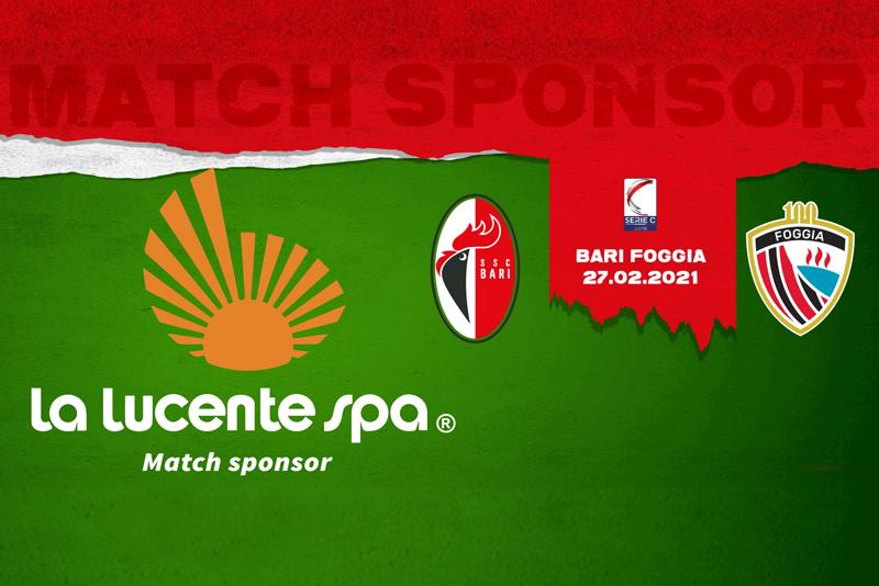 Bari-Foggia targata La Lucente SpA: il 27 febbraio l'azienda è match sponsor del derby al San Nicola
