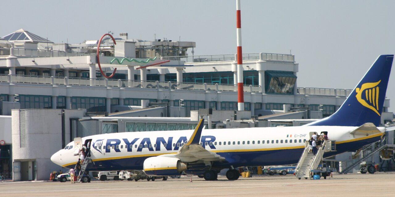 Sette nuove rotte dalla Puglia per Ryanair per l'estate 2021
