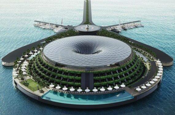 Qatar. Il primo ecohotel galleggiante del mondo sarà completato nel 2025