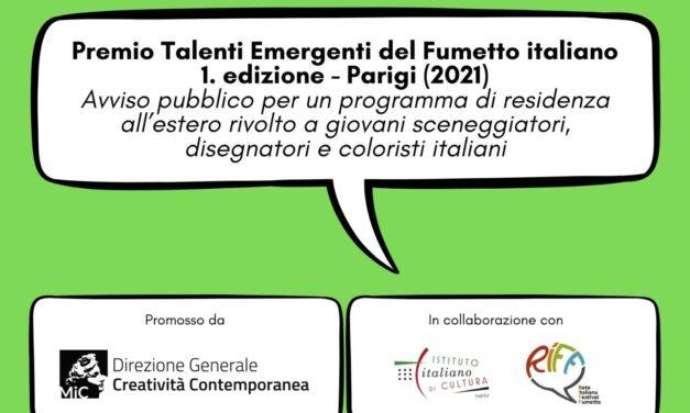 A Parigi la prima edizione del PREMIO TALENTI EMERGENTI DEL FUMETTO ITALIANO