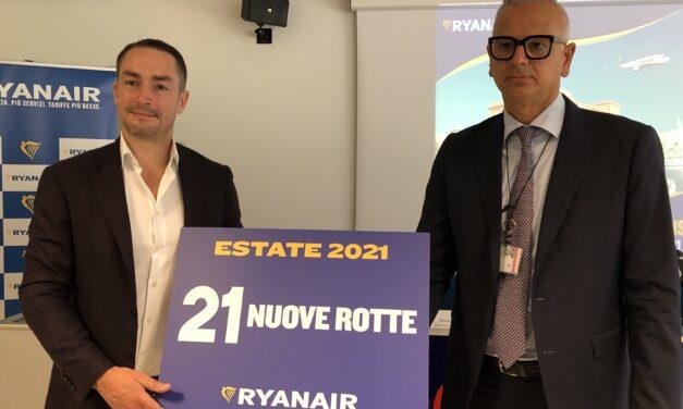 RYANAIR LANCIA L'OPERATIVO 2021 PER LA RIPRESA SULLA PUGLIA