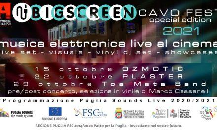 CAVO FEST 2021: il 15 – 22 – 29 ottobre il festival di musica elettronica torna a Molfetta