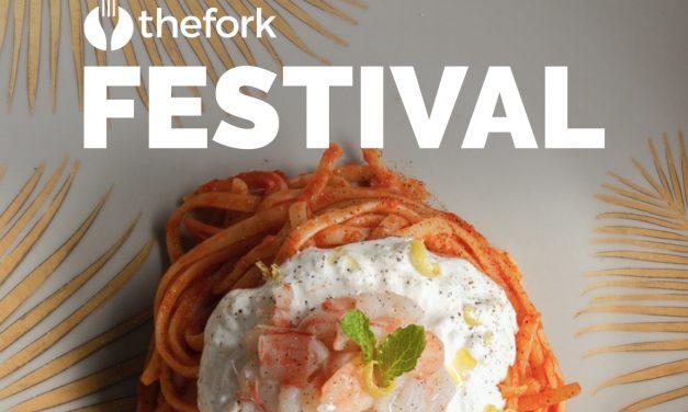 TheFork Festival. Da domani in più di 2.000 ristoranti in Italia sconto del 50% su tutti i piatti
